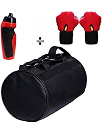 SOOPLE SPORTZ Gym Bag Combo Set Enclosed With Soft Leather Gym Bag For Men And Women For Fitness - Bag Size 49cm...