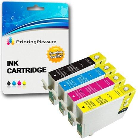 4 Compatibili 16XL Cartucce d'inchiostro per Epson Workforce WF-2010W WF-2510WF WF-2520NF WF-2530WF WF-2540WF WF-2630WF WF-2650DWF WF-2660DWF WF-2750DWF - Nero/Ciano/Magenta/Giallo, Alta Capacità