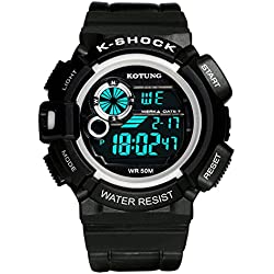 Mens waterproof digital watches/Multifunctional outdoor sports watches/Casual fashion watches-E