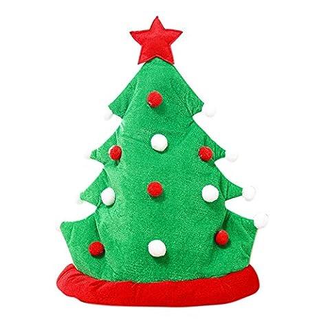 Weihnachtsfeiertags-Kappe Piebo für Weihnachtsmann-Geschenke Vlies (Grün) (Schuhkarton-geschenke Für Weihnachten)