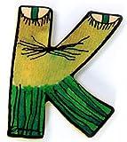 Janosch Holzbuchstabe K farblich sortiert