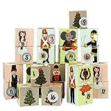 Papierdrachen DIY Adventskalender Kisten Set - Motiv Nussknacker - 24 Bunte Schachteln aus Karton zum Aufstellen und zum Befüllen - 24 Boxen - Weihnachten 2018