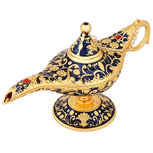 Magische Aladdin Lampe, Luxus Klassische Vintage Collectable Seltene Legende Aladdin Magic Genie Kostüm Lampe Tischdekoration