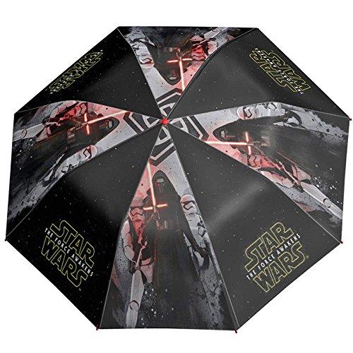 p:os Perletti Star Wars Kinderregenschirm/Minischirm für Jungs - schwarz
