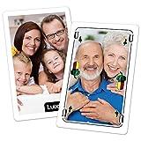 Personalisiertes Schafkopf (Doppelkopf, Schnapsen, Gaigel) mit ihren Fotos - Doppelspiel in Klarsichthülle