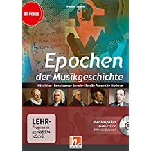 Epochen der Musikgeschichte, Medienpaket (CD+DVD): Mittelalter, Renaissance, Barock, Klassik, Romantik, Moderne