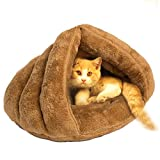 Pets Empire Pet Dog Cat Bed Warm House Sleeping Bag Sleep Zone For Puppy Cat Rabbit Small Animals Shearling Bed 1 Piece Color May Vary
