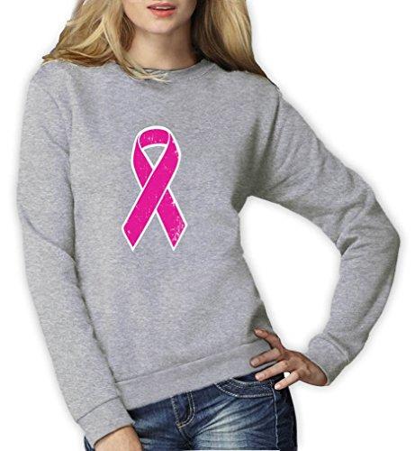 Green Turtle T-Shirts Pink Ribbon - Geschenk Pullover im Zeichen der Solidarität Frauen Sweatshirt X-Large Grau