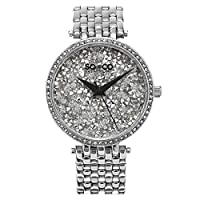 SO&CO New York Soho Women's Silver Pave Dial Stainless Steel Band Watch - 5080.1