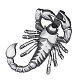 MATERIA Herren Kettenanhänger Sternzeichen Skorpion 925 Sterling Silber Anhänger Männer schwarz #KA-62_ohne Kette