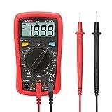 Signstek UNI-T UT33D+ Digital Palm Multimeter, Strom / Spannung Widerstandsmessgerät mit Hintergrundbeleuchtung LCD-Display, Multimeter für Dioden- und Durchgangsprüfung, * Rot *