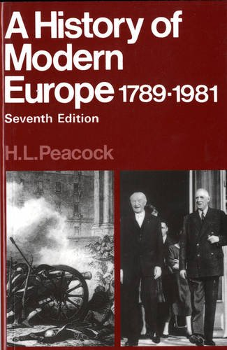 Hist Modern Europe 1789-1981