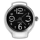 Dilwe - Reloj analógico de Cuarzo, 8 Colores, diseño de Anillo de Dedo, Negro