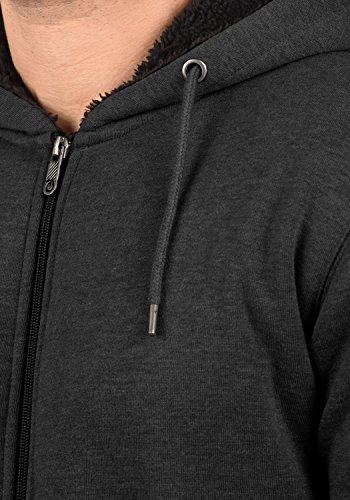 Pullover Solid Dark Grey mit Teddy-Futter