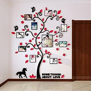 Alicemall 3D Wandaufkleber Rot Blätter Stereo Wandtattoo Abnehmbare Wohnzimmer Schlafzimmer Kinderzimmer Sofa Möbel Hintergrund Wandtattoo