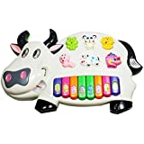 Funny And Musical Cow Piano Toys With Different Animals Sounds And Lights For Babies