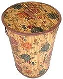GMMH LN 46 Wäschekorb blau rose Bambus faltbar