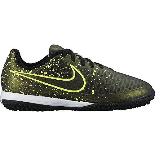 Nike Jr Magista Onda Tf, Chaussures de Sport Fille, Anthracite Doré / Vert / Noir (Dark Citron / Drk Citron-Blk-Vlt)