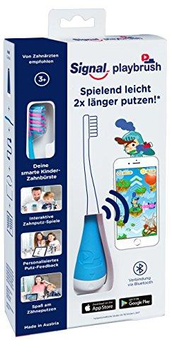 Spielen 2 Steuern (Playbrush, smarte Kinder-Zahnbürste mit Apps zum spielerischen Erlernen des Zähneputzens (Signal Blau))