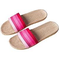 sandalias mujer verano Sannysis sandalias bohemias zapatillas plataforma antideslizante para Interior y Al aire libre (EU 39-40, rosa)