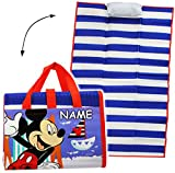 Unbekannt gepolsterte _ Strandmatte / Strandunterlage -  Disney - Mickey Mouse  - incl. Name - 75 cm * 150 cm - incl. aufblasbares Kissen - wasserfest & faltbar - als..