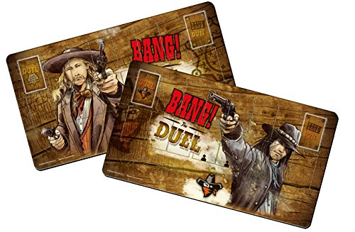 dV Giochi DVG9114 - Bang! The Duel Player Mats - Accessorio per Gioco
