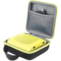 co2CREA Voyage Stockage Porter Étui Housse Case pour Enceinte Bluetooth Bose SoundLink Color II (Noir/Jaune Citron)