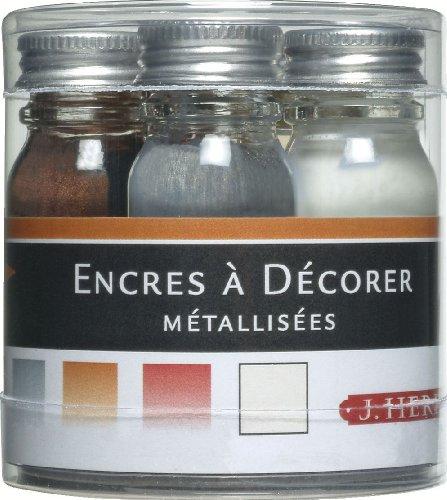 Preisvergleich Produktbild Herbin Spezial-Tinte, Set mit 5Flaschen Zeichentinte 6,80 x 6,80 x 6,50 Or/Argent/Cuivre/Ecume/Fer