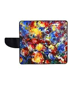 KolorEdge Printed Flip Cover For Sony Xperia Z Multicolor - (50KeMLogo10484XperiaZ)