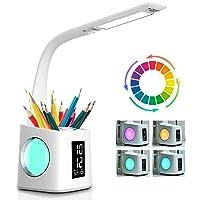 Lampe de bureau LED Eye-Caring Lampe de Table D'étude Port de charge USB Lumière de L'atmosphère Nocturne avec Porte…