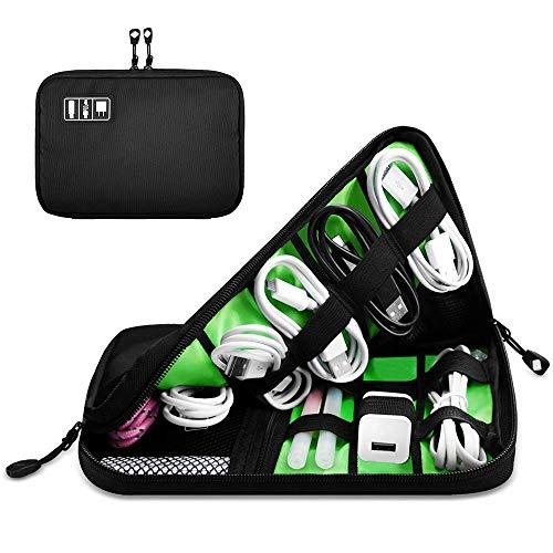 Cable Organizer Bag - Elektronikzubehör Reisetasche für Digitalzubehör USB-Kabel Power Bank Kopfhörer Festplatte SD-Karten