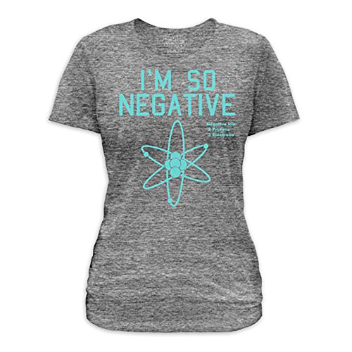 Goodie Two Sleeves Girl-Shirt I'M SO NEGATIVE tri grey Tri Grey