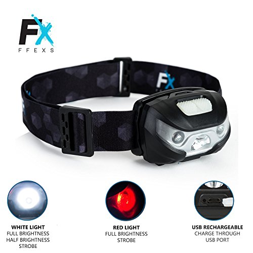 51hIJuIY%2BIL. SS500  - Head Torch LED Headlight Super Bright Premium USB Rechargeable Headlamp with Waterproof Design - Whi