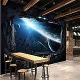 Wandgemälde, 3D Wallpaper Internet-Cafés Tapeten Für Kosmischen Weltraumraum Luna, 400X288Cm