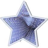 KAMACA - XL - Zauber - Spiegel mit 23 LED - tolle Motive und Farben - Wohnzimmer und Kinderzimmer Beleuchtung Deko und Lampe - leuchtende LED - Zauberspiegel Effekte - warm weiss hell leuchtend - in wertigem Karton verpackt - eine tolle Geschenk - Idee für einen lieben Menschen - Geburtstag - NEU aus dem KAMACA - SHOP ( Leucht - Stern Weiss)