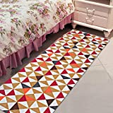 Saral Home Cotton Printed Kitechen/Bedside Runner -50x180 cm, Red