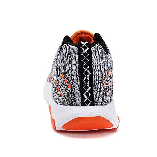 Gomnear Hommes Fonctionnement Chaussures Été Pour des hommes Chaussure Antidérapant Respirant Athlétique Poids léger Mode sport Aptitude En marchant Orange