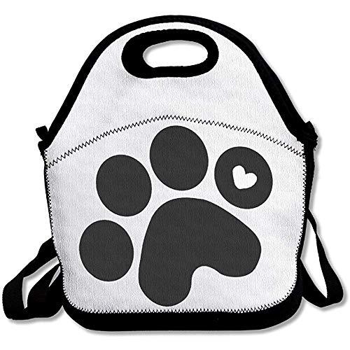 Lunch Boxen,Lunchpaket Dog Paw Prints Lunchpaket Lunchpaket Für Damen Herren Kinder Mit Verstellbarem Gurt -
