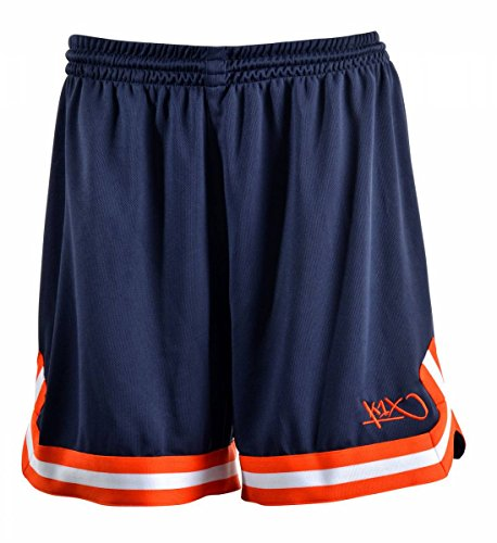 K1X Hardwood Double X Shorts mk2 Basketball Navy-rot-weiß Damen Navy/Flame/White, L
