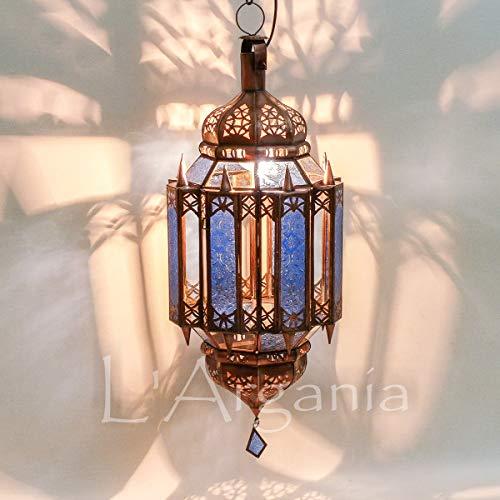 Lampada marocchina - Malika Blu - Lanterna - Dimensioni H55 X 23 cm