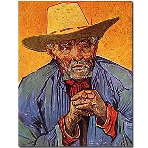 Peinture à l'huile à la main de CSQ de Vincent van Gogh avec cadre étendu