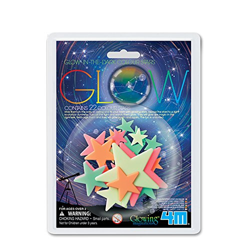 4M - Glow Colour Stars, decoración fosforescente (004M5241)