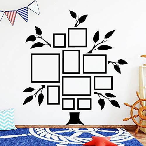BailongXiao Niedlicher Erinnerungsbaum für Kinder und Kinderzimmer entfernbare PVC-Wandaufkleber dekorativer Hintergrund Wandkunst Aufkleber 45x48cm