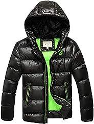 SXSHUN Niños Chaqueta de Nieve para Invierno Boys' Snow Jacket Abrigo Acolchado con Capucha para Ch