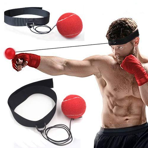DIVAND Box-Reflex Ball-Reflex Ball Boxing Ball Übung, Portable Boxing Punch Ball on String mit Headband Training Speed Reactions Punch Focus für Adult/Kids Gym, Boxing Gifts