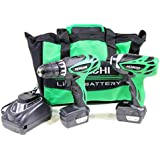 Hitachi KC10DFL 10.8V Cordless Drill Driver and Impact Driver Twinpack (2x 1.5Ah Batteries)