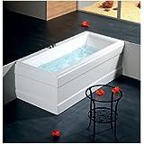 Badewanne CLEO 160x75cm, 48cm tief! mit Schürze und Wannenfüßen