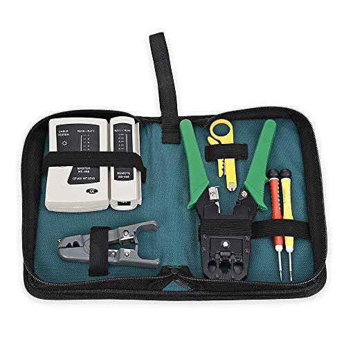 6 in 1 Netzwerkwartung Computer Reparatur Tool Professionelle Netzwerk Installation Tool Kits, Netzwerkkabel Reparatur Tool Tasche Kit