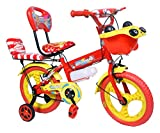 #10: NY Bikes Steel Bottle 14T Kids' Bicycle, 14 Inches (Red and Yellow)