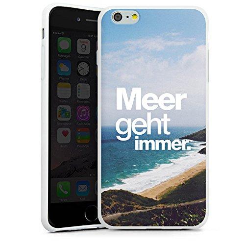 Apple iPhone X Silikon Hülle Case Schutzhülle Meer Sommer Sprüche Silikon Case weiß
